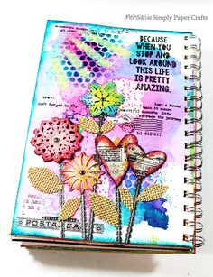Meihsia Liu Simply Paper Crafts Mixed Media Art Journal Simon Says Stamp Monday Challenge