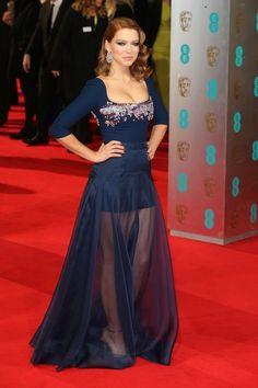 Lea Seydoux. | All The Fashion At The 2014 BAFTAs