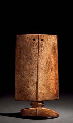 Burkina Faso   Pendant ~ thungbubiel ~ from the Lobi people   Ivory; old honey toned patina.  H:  23 cm. L: 12cm   4'500€ ~ sold (Feb '15)