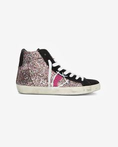 #love #need Philippe Model High Top Glitter Sneakers
