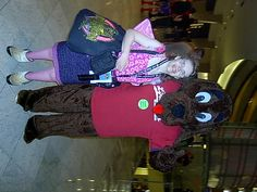 me with a furry friend at Dragon*Con 2011
