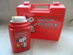 Vintage snoopy lunchbox and flask by empireantiques on Etsy, £15.00