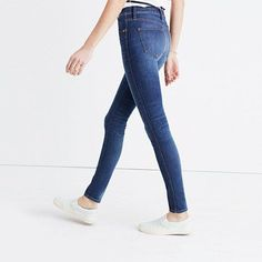 Our favorite supersleek, legs-for-days fit crafted with the very latest in stretch denim technology for some serious lifts-you-up-and-holds-you-in magic. Comfy enough for a long flight (trust us, we've tested them out), these extra-elastic jeans will boost everything you've got—confidence included. <ul><li>Monogramming available for US customers: To have this item embroidered with up to nine letters for $10 (free for Madewell Insiders), please call 866 544 1937.<&#x2F...