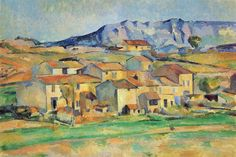 Mont Sainte-Victoire seen from Gardanne, 1890 - Paul Cezanne (Private Collection)