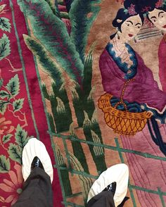 """445 Likes, 11 Comments - Kirill Istomin (@kirill_istomin) on Instagram: """"Antique rug for my guest bedroom Chinese extravaganza is finally at place. Love the colors!…"""""""