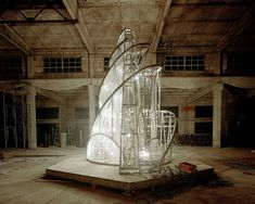 "Ai Weiwei - Fountain of Light (2007) based on Vladimir Tatlin's ""monument for the third international, 1929"""