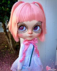 RESERVED for Crystal  Neko  OOAK Custom Blythe doll  by SweetCrate