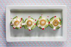 Zabie oczka halloween. - DusiowaKuchnia.pl Frog Eye, Panna Cotta, Food And Drink, Ethnic Recipes, Kitchen, Eyes, Dulce De Leche, Cooking, Kitchens