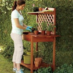 A potting bench as pretty as your plants!