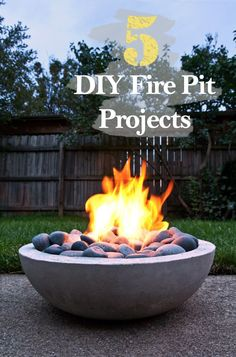 5 DIY Fire Pit Projects