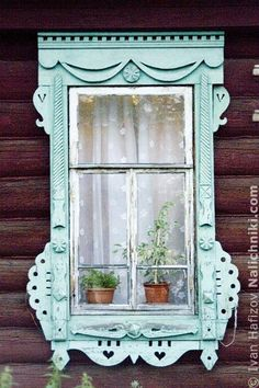 Carved wooden window trim (Nalichnik) from Navashino Wooden Window Frames, Wooden Windows, Vintage Windows, Old Windows, House Windows, Blinds For Windows, Windows And Doors, Window Blinds, Wood Blinds
