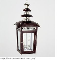 Hanging Wooden Regency Pineapple Lantern, HL 377