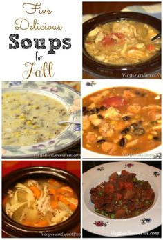 Fall means soup at my house. I'm sharing five of our favorites that I've made time and time again.