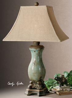 Andelle Light Blue Table Lamp farmhouse-table-lamps