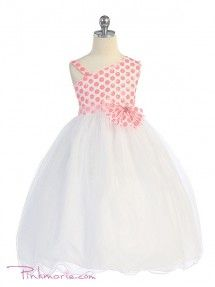 Rhinestone Pearl Flower Girl Pageant Party Christening Dress Size 12m-4T FG049