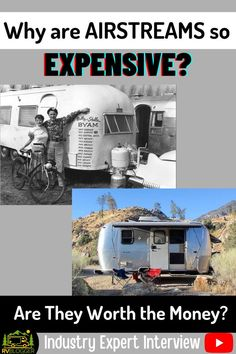 Ever wonder why Airstream Travel Trailers are so expensive? We did so we interviewed an industry expert for answers. Vintage Airstream trailers are iconic for remodeling decades old campers due to their quality construction. More full time RVers love the comfort of RV living in an Airstream. Check out our interview for more information on are Airstreams worth the money! #rvblogger #airstream #airstreamtraveltrailer #rvvideo #rvyoutube #rvreview #fulltimervliving #rvliving #buyanrv #rvtips