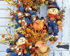 Fall Wreath centerpiece set, Fall Grapevine Wreath-Wreath for front door- Everyday Wreath- Fall Pumpkin Wreath- Thanksgiving Wreath – Grapevine Wreath İdeas. Wreaths For Front Door, Door Wreaths, Grapevine Wreath, Thanksgiving Wreaths, Fall Wreaths, Fall Swags, Halloween Wreaths, Thanksgiving 2020, Summer Centerpieces