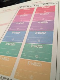044~~12 To Watch Television TV Boxes Planner Stickers. by PlanToPlan on Etsy
