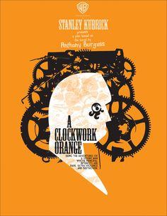 A Clockwork Orange / Laranja Mecânica #filme #movie #cinema #stanleykubrick #poster