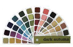 Dark Autumn Color Swatch Book from Indigo Tones
