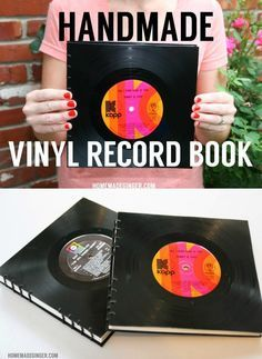 How to make books out of vinyl records - this is super cool!