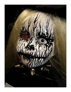 Ooak Handmade Halloween Horror Creepy Devil Dolls. $220.00, via Etsy.  This little girl is badass
