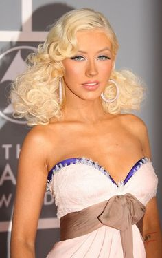 Christina Aguilera at the Grammys