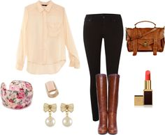 """""""First Day of School Outfit"""" by michaela-9-5 on Polyvore"""