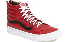 ee41170367 Vans Sk8-Hi Slim Zip Sneakers in Red Vans Sneakers