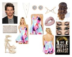 """""""MTV Movie Awards with Louis"""" by love-smile-laugh-1d ❤ liked on Polyvore featuring Shoe Republic LA, Jimmy Choo, Forever 21, Roberto Marroni and Michael Kors"""