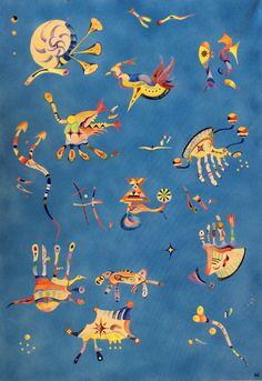 """""""Celeste"""" inspired by Wassily Kandinskys """"Himmelblau"""" 70*100 cm"""