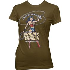 Wonder Woman - Strongest Woman Alive T-Shirt