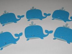 paper whales made with cricut cartridge