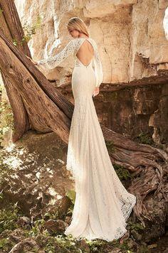 Breezy Lace Wedding Dress - Style #2332 | Mikaella Bridal Designer Bridesmaid Dresses, Bridal Wedding Dresses, Wedding Dress Styles, Lace Wedding, Wedding Beach, Wedding Hair, Wedding Reception, Wedding Stuff, Wedding Ideas