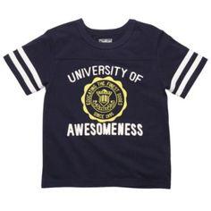 OshKosh Toddler Boys University of Awesomeness Jersey Navy