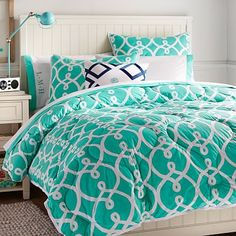 Totally Trellis Comforter + Sham, Pool #pbteen