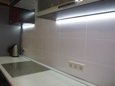 Подсветка рабочей зоны на кухне, светодиодная лента
