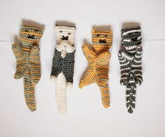 Custom Knitted Cat Toy for Baby Boys and Girls Grey by domatoma, €25.00