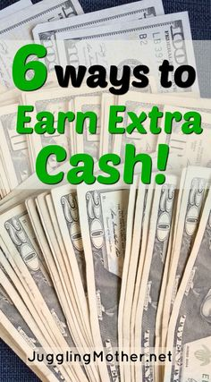 Would you like to earn more money? Need some extra cash in your pocket? Read more for six ways to create some cash income streams.