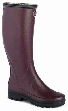 Campbell's of Beauly - Giverny Boot 4579 Cherry Wellington Boot, Online Purchase, Rubber Rain Boots, Cherry, Lady, Leather, Stuff To Buy, Accessories, Shoes