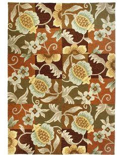 Indoor/Outdoor Floral & Pineapple Rug