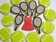 Tennis Anyone  Decorated Sugar Cookie Collection by MartaIngros