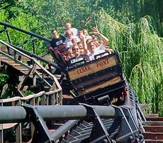 Quite possibly the worst roller coaster still in operation today. Best Amusement Parks, Amusement Park Rides, Abandoned Amusement Parks, Crazy Roller Coaster, Roller Coasters, Abandoned Cities, Abandoned Mansions, Cedar Point Ohio, Marblehead Ohio