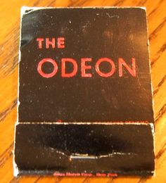 The Odeon - #matchbook - To order your business' own branded #matchboxes and #matchbooks, go to www.GetMatches.com or call 800.605.7331 today!