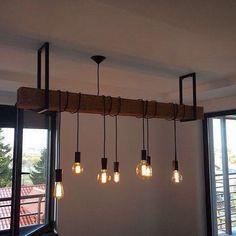 Idée de suspension avec poutre et luminaires style industriel