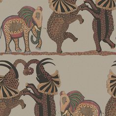 Cole & Son Safari Dance Red Linen Wallpaper - http://godecorating.co.uk/cole-son-safari-dance-red-linen-wallpaper/