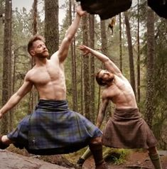 Colour Elements man is also yoga- perfect. Tristan Cameron-Harper pulling poses in Scotland with Finlay Wilson