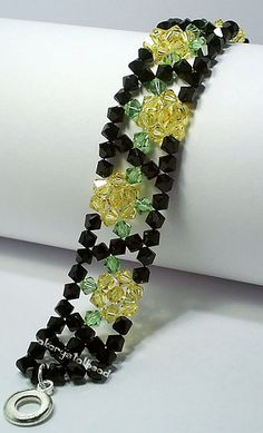 Black and Yellow Crystal bracelet | Flickr - Photo Sharing!