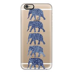 Patterned Elephants(navy) - iPhone 7 Case, iPhone 7 Plus Case, iPhone... ($40) ❤ liked on Polyvore featuring accessories, tech accessories, phone cases, phone, cases, electronics, iphone case, slim iphone case, print iphone case and elephant iphone case