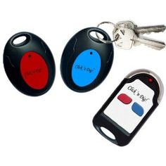Click 'n Dig! Key Finder. 2 Receivers. Wireless RF Item Locator Remote Control, Pet, Wallet, Keyfinder. (Free Extra Batteries).   #remotekeyfinder   #key #finder #remote